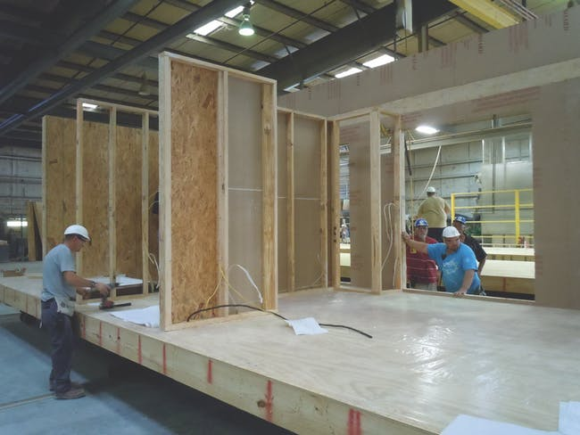 Fabrication of Clayton Homes modules