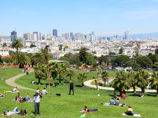Dolores Park under construction in 2014. Photo: Torbakhopper.