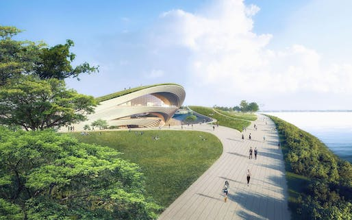 Winning design of the Founders' Memorial Singapore. Image: Kengo Kuma & Associates and K2LD Architects
