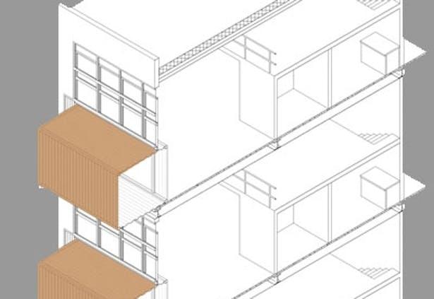 Axon/Section, AutoCAD + Photoshop