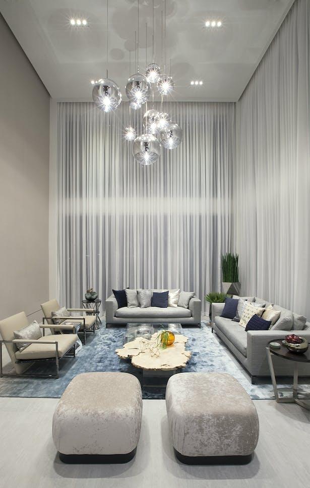 Living room - Residential Interior Design Project in Aventura, Florida