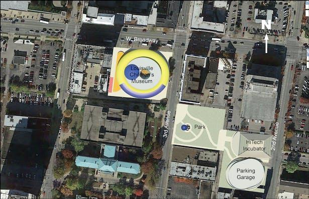Louisville Children's Museum proposal site plan.
