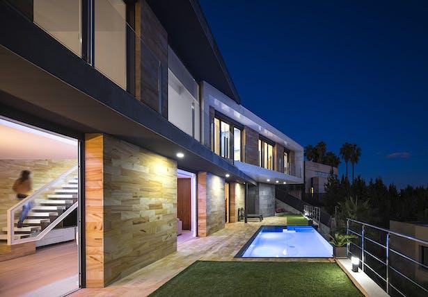 Garden and pool - E House
