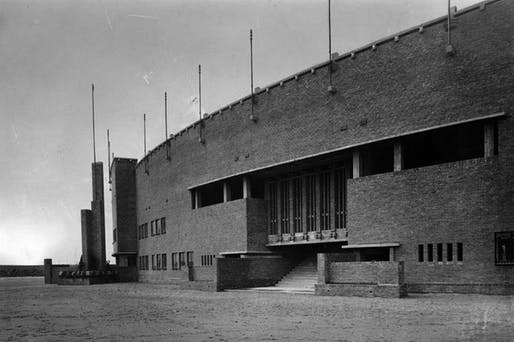 Olympic Stadium in Amsterdam by Jan Wils, 1928. Image: Netherlands Architecture Institute, via architectureau.com.