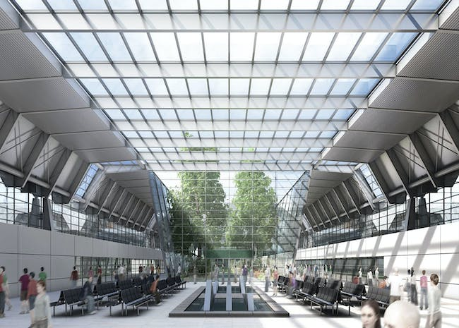 View along the main central thoroughfare (Image: gmp · von Gerkan, Marg and Partners · Architects)