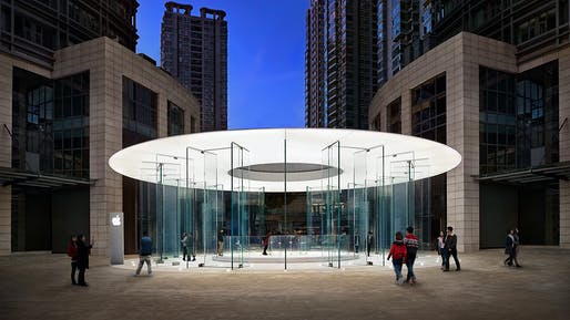 Apple Kunming Pavilion. Structural Designer: Eckersley O'Callaghan. Architect: Integrated Design Associates Inc. Image © John Harkins, Prime Consulting; Kansas Ho, Legend Interiors Ltd; Hufton + Crow