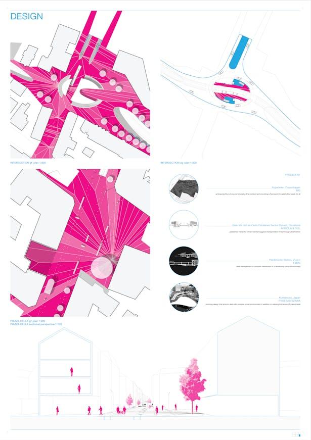 Design - detail plans & perspective section