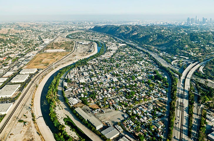 Lane Barden's 'Linear City'. Image courtesy of LA Forum.