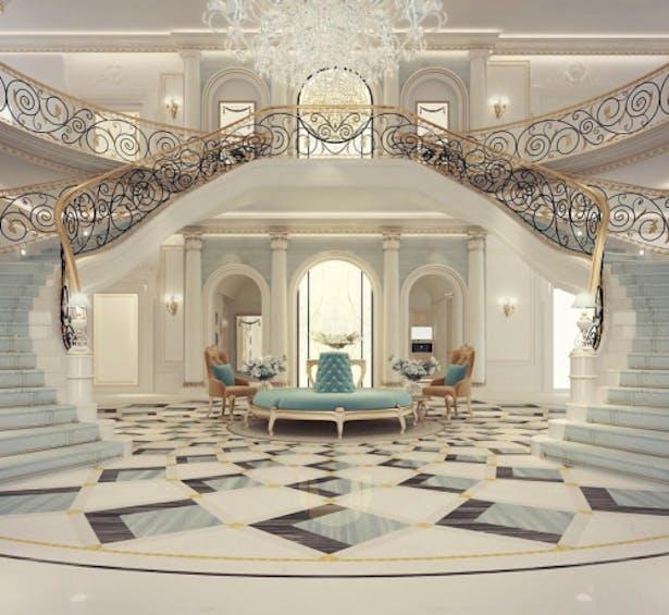 Exploring Luxurious Homes : Grand Lobby Interior Design