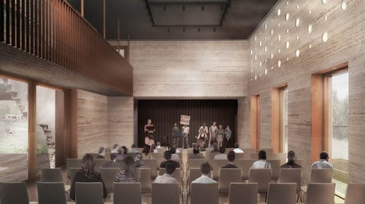 Theatre view rendering by Project V Architecture.