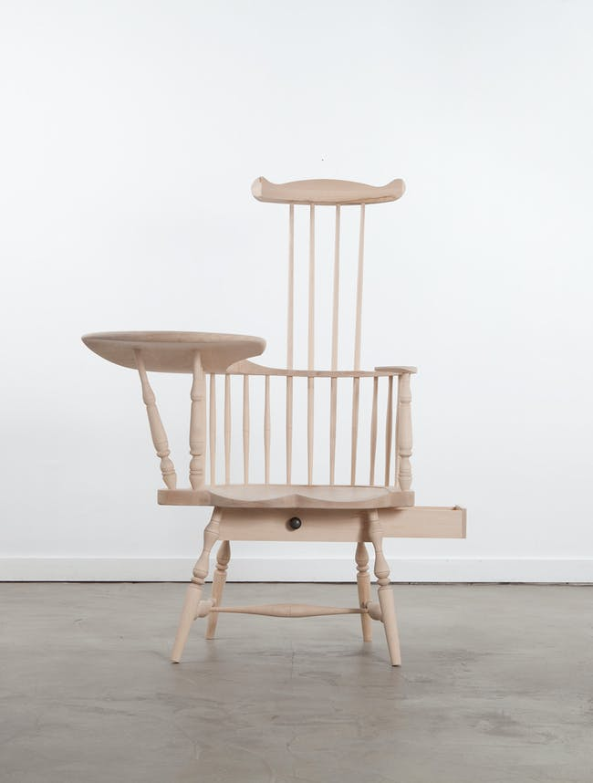 Norman Kelley (Thomas Kelley & Carrie Norman), 'Comb-Back Writing­-Arm Chair,' 2014. Maple. 48 1/2 x 36 1/2 x 40 inches. Courtesy of Volume Gallery, Chicago