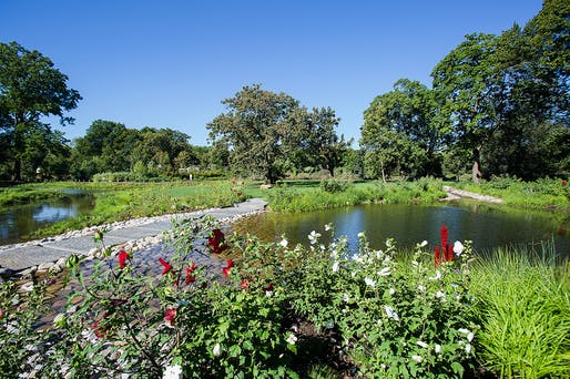 Oct 19: Brooklyn Botanic Garden's Shelby White and Leon Levy Water Garden and Water Conservation Project, Landscape Architect: Michael Van Valkenburgh Associates, Photo by Liz Ligon. Courtesy of Brooklyn Botanic Garden.