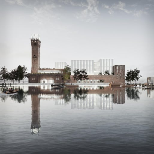 Maritime Knowledge Hub competition entry by Schmidt Hammer Lassen Architects. Image: Schmidt Hammer Lassen Architects.