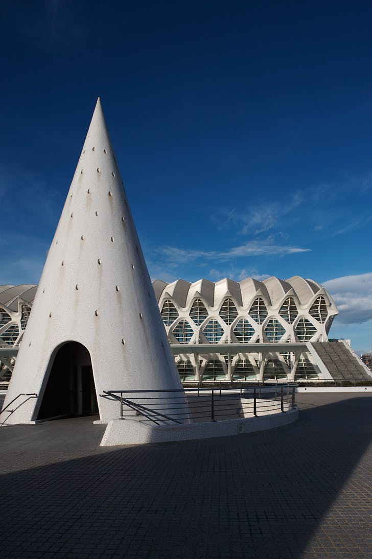 City of arts and science by Santiago Calatrava, Valencia, Spain.