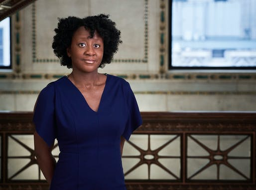 Yesomi Umolu at the Chicago Cultural Center. Photo by Andrew Bruah, courtesy of the Chicago Architecture Biennial.
