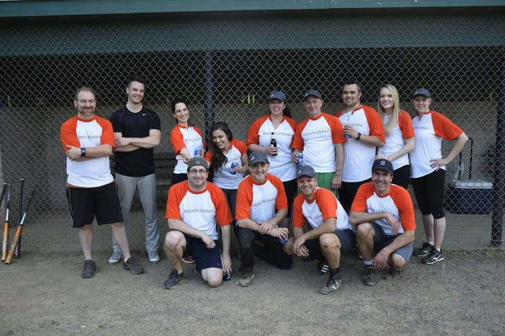 Amenta Emma team softball, 2016. Photo courtesy of the firm.