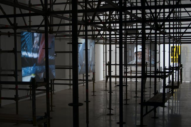 Construction site at Fair Building, Polish Pavilion. Photo courtesy of Maciej Jelonek.