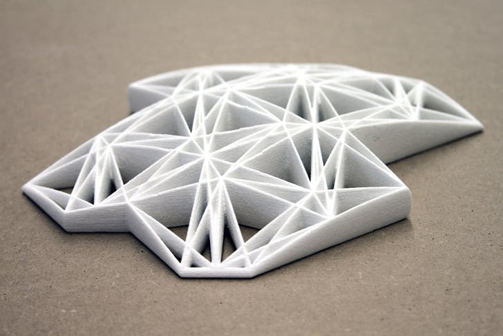 Tesssselace, 3D-printed prototype of rubber floor matting; Igor Siddiqui / isssstudio