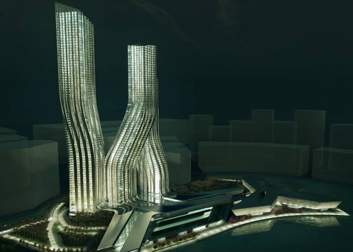 The Signature Towers in Dubai, a project currently in the works. Credit: Zaha Hadid Architects