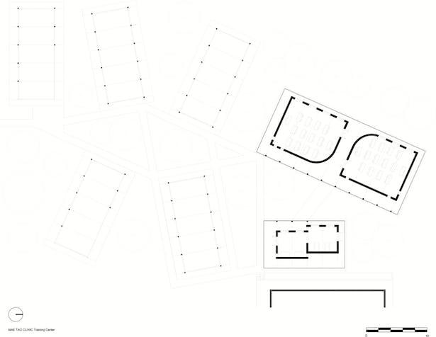 Overview plan - five dormitories