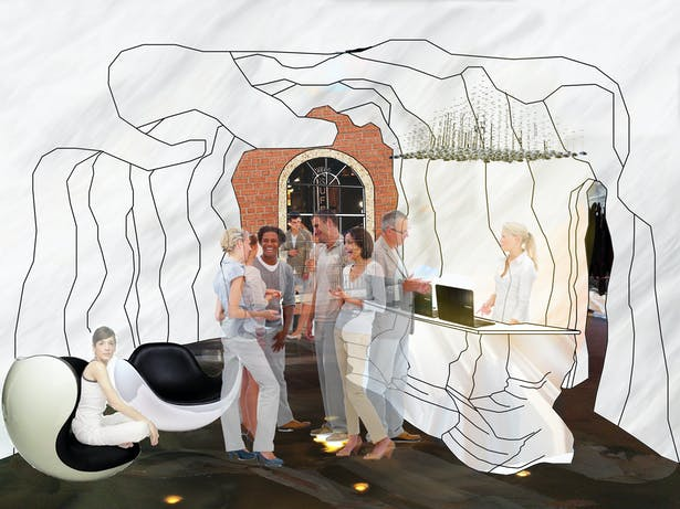 Rendering of the museums lobby
