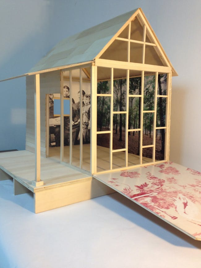 Fo (Foyalemi) Wilson, cabin model for Eliza's Peculiar Cabinet of Curiosities, 2015, Chicago. Courtesy of the artist. From the 2016 Individual Grant to Fo (Foyalemi) Wilson for Eliza's Peculiar Cabinet of Curiosities.