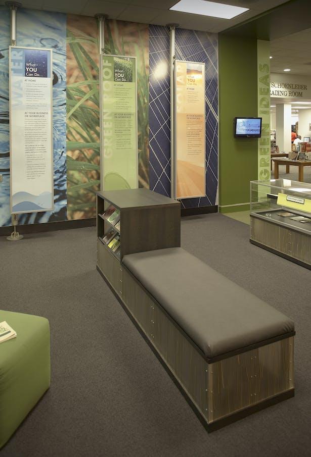 Custom display cabinet/bench