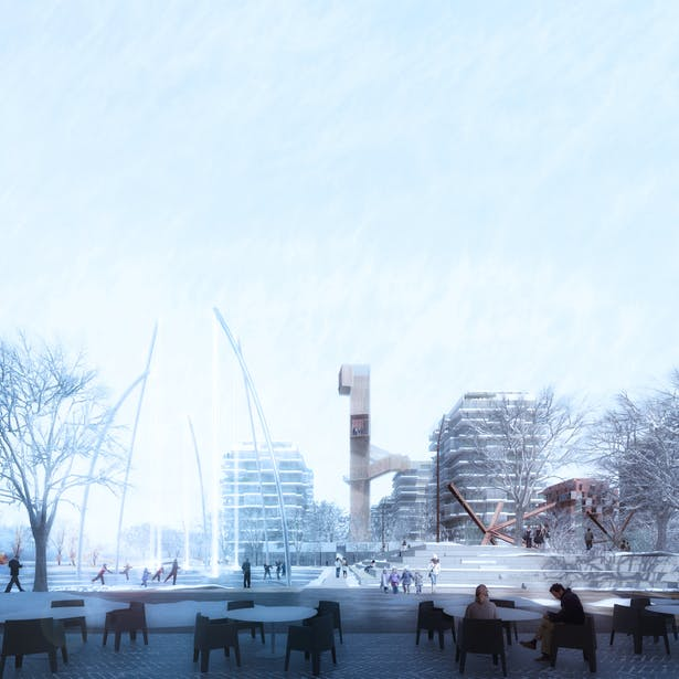 Central square | winter view