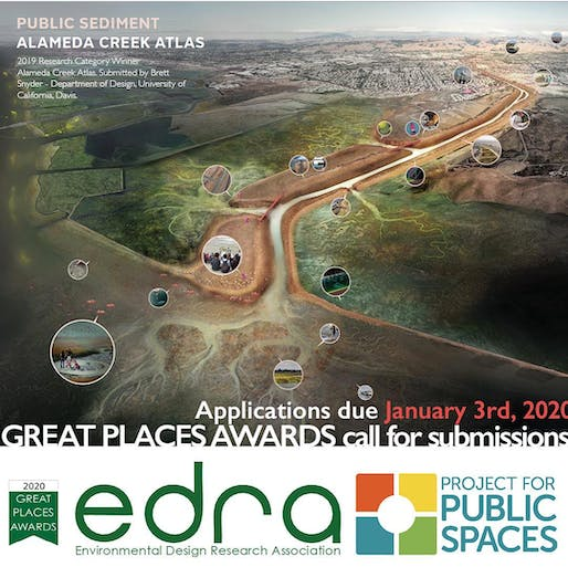 EDRA Great Places Awards 2019 Research Category Winner: Alameda Creek Atlas. Submitted by Brett Snyder - Department of Design, University of California, Davis. Image via EDRA/Facebook.