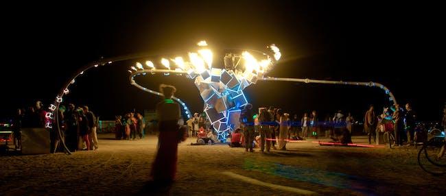 Burning Man artworks (photo via www.sohldickstein.com)