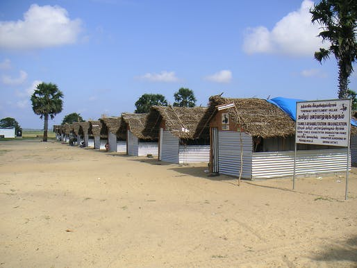 Transitional shelters in Sri Lanka. Photo credit: Arup, courtesy of Institution of Structural Engineers.