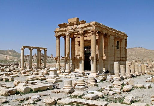 Reports say that ISIS militants had 'placed a large quantity of explosives in the temple of Baal Shamin' and blew up the ancient structure. (Photo: Bernard Gagnon/Wikimedia Commons)