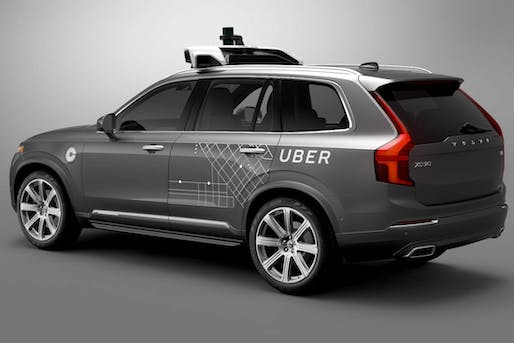 Uber's new self-driving Pittsburgh fleet is comprised of these modified Volvo XC90 SUVs. (Image via bloomberg.com)