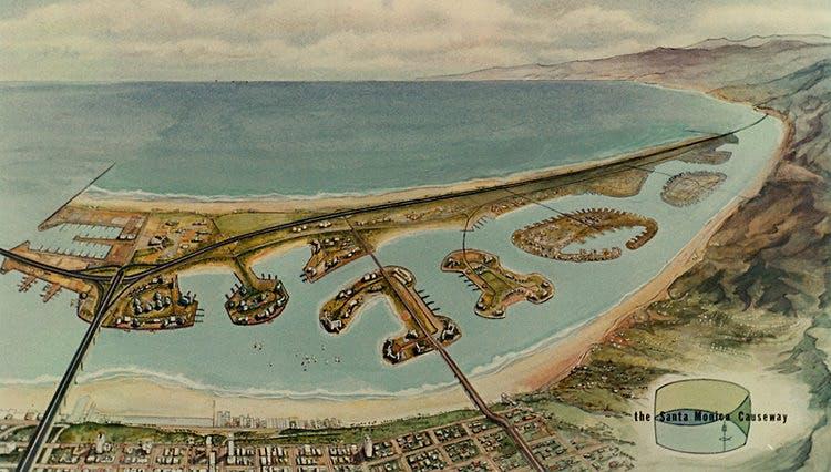 The science fiction of never built los angeles for Malibu motors santa monica