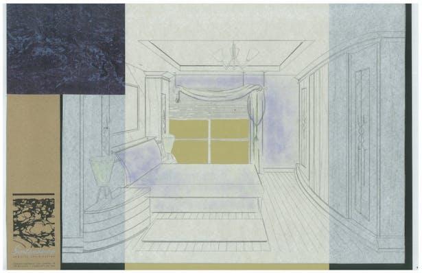 Mr. Jerves Master Bedroom   Interior Hand-Sketch