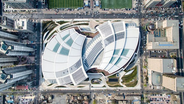 Olympia 66 in Dalian, China by Aedas - Aerial View