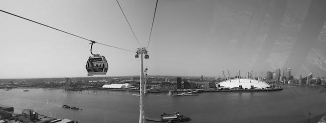 Shortlisted: The Emirates Air Line cable car, London, UK; Photo: Luke Hayes