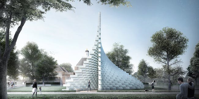 A rendering of BIG's Serpentine Pavilion. Credit: BIG via the Serpentine Galleries.
