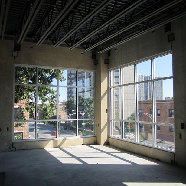 Interior North East Corner with Glazing