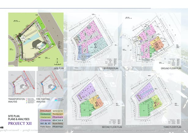 Site plan, plans & analyses