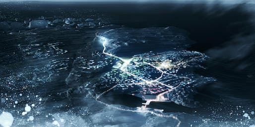 Bird's eye view of the concept 'Greenland Migrating' (Image: David Garcia Studio and Henning Larsen Architects)