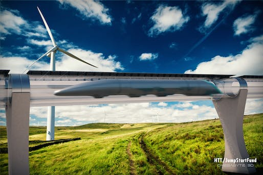 Ten minutes for a trip from Bratislava to Vienna? They better have free peanuts and Wi-Fi. (Image: Hyperloop Transport Technologies)