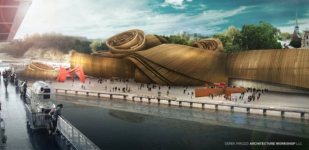 DPAW Guggenheim Helsinki - Harbor Perspective