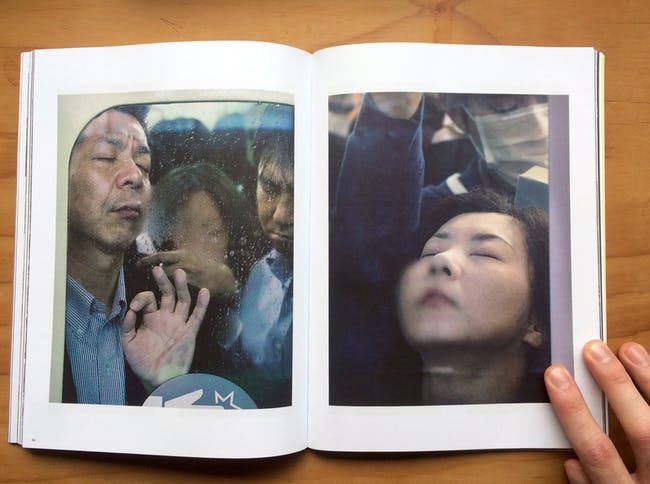 Compressed commuters captured by Michael Wolf