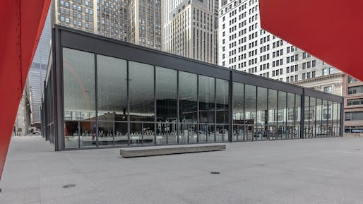 Chicago Federal Plaza United States Post Office, Chicago, IL, Ludwig Mies van der Rohe, 1963-74. Photo © Lee Bey.