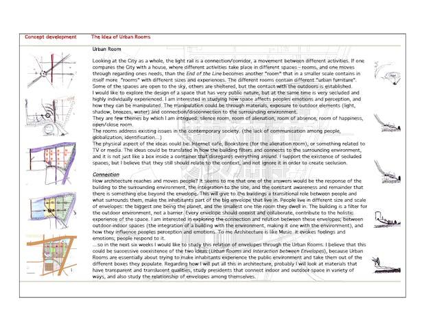 urban plan concept sketches