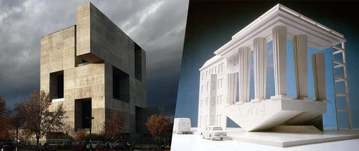 "Enfants terribles from different generations: T, the New York Times Style Magazine, included architects Alejandro Aravena and Trix & Robert Haussmann on their ""28 Creative Geniuses Who Defined Culture in 2016"" list. (Image left: UC Innovation Center – Anacleto Angelini, 2014, Alejandro Aravena/ELEMENTAL, Photo: Nina Vidic; Image right: OpenFocusPocus, 1982, Trix and Robert Haussmann)"