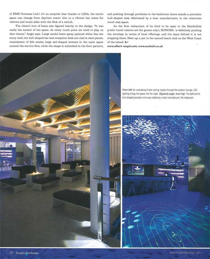Konoba in hospitality design august 2010 albert angel for Top hospitality architecture firms