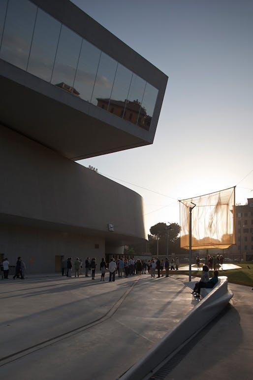 "bam!'s completed ""He"" installation, winning design of the 2013 Young Architects Program, MAXXI (Photo: Alberto Sinigaglia, Courtesy Fondazione MAXXI)"