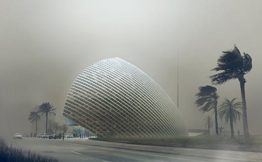 ARPT Headquarters in Algiers by 2017 Honorary Fellow Mario Cuncinella. Image: Mario Cuncinella Architects.
